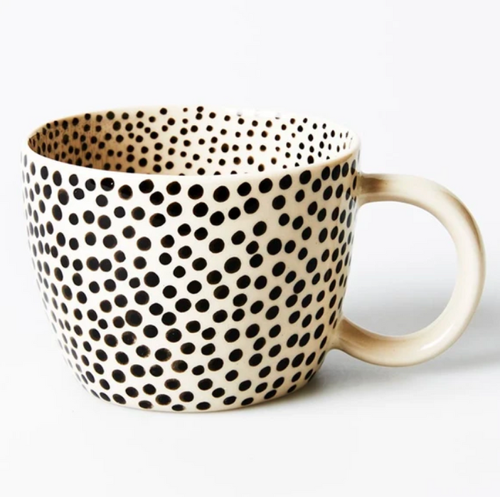 Jones and Co Black Sprinkle Chino Mug