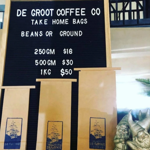 De Groot Coffee Co Beans.