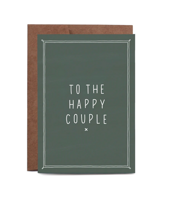 Happy Couple Green Greeting Card