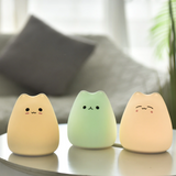 Veilleuse chat silicone