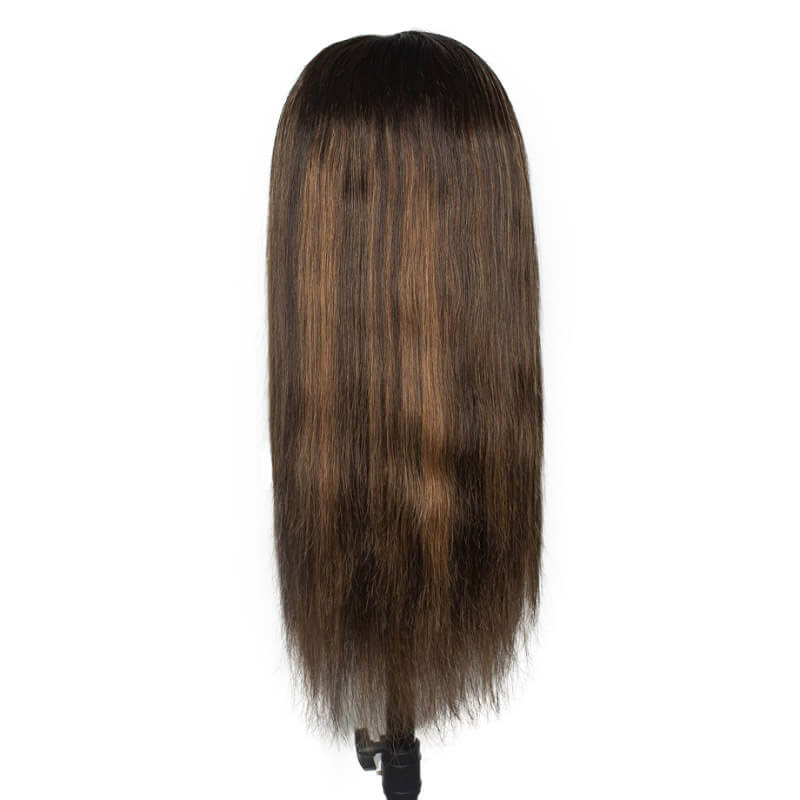 1B/30 Highlight Color 13X4 Lace Wig Silky Straight