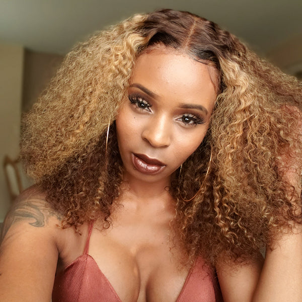 Human Hair Wigs Lace Bob Wig Deep Wave Curly