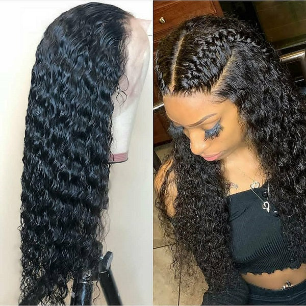 13X4 Human Hair Lace Front Wig Deep Wave
