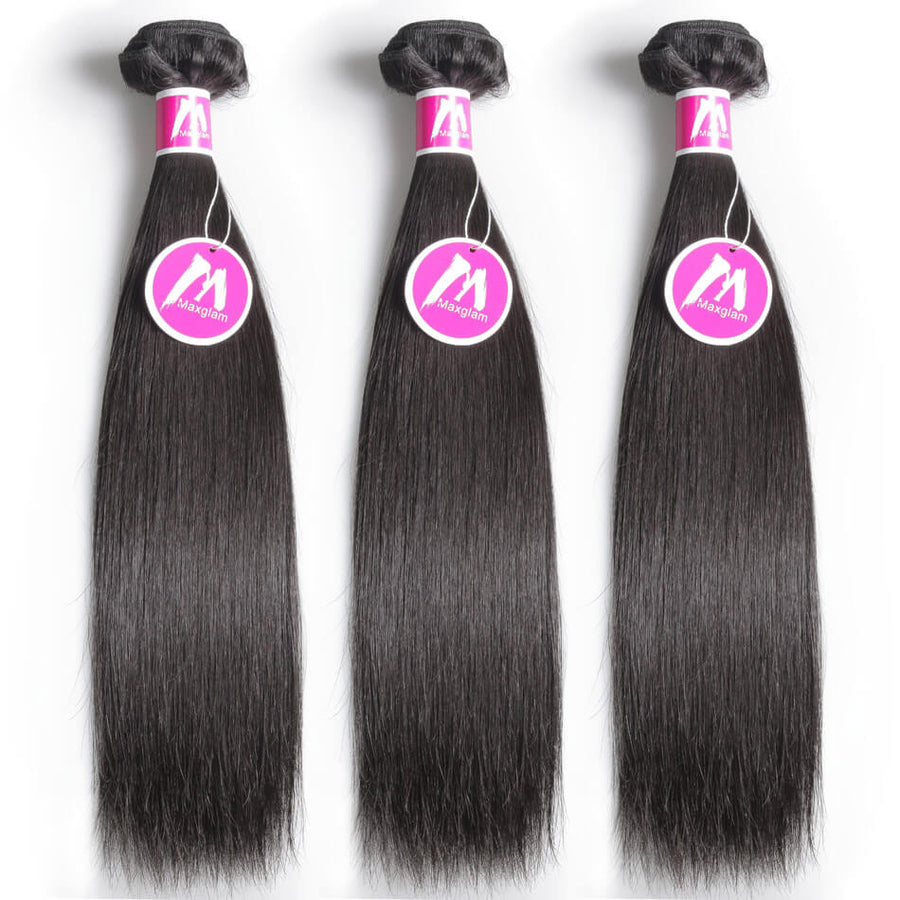 Remy Virgin Hair Weave 3 Bundle Deals Silky Straight