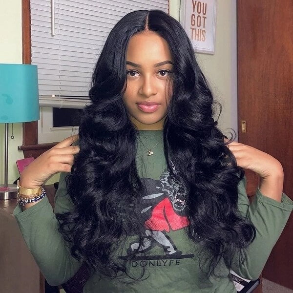 Long Human Hair 13x4 Lace Wig Body Wave