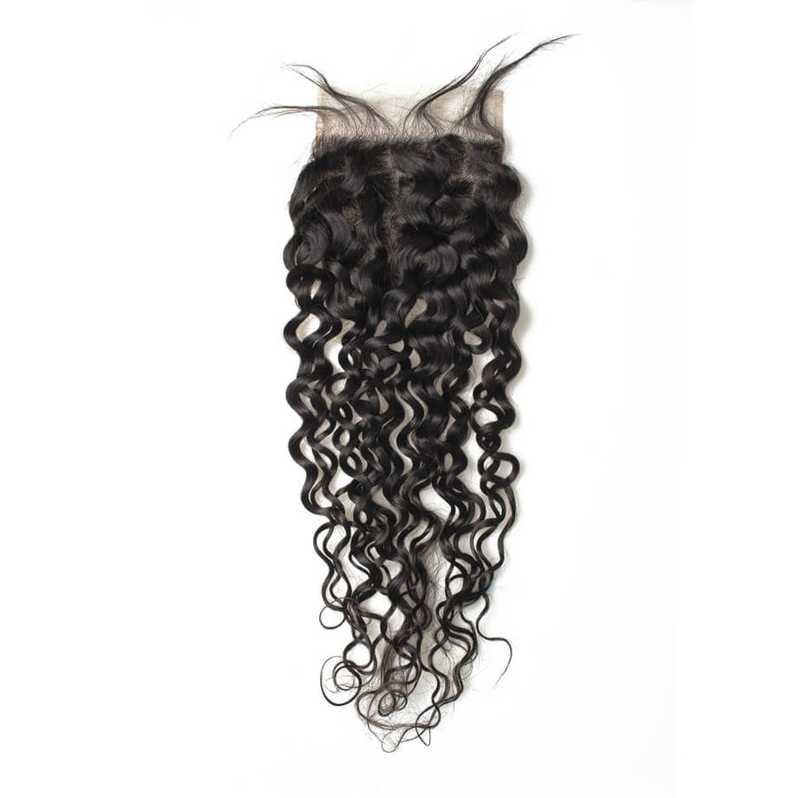 Remy Virgin Hair 4x4 Lace Closure Water Wave