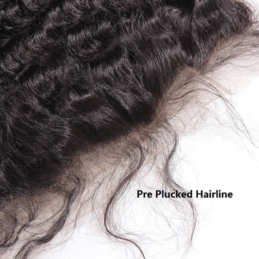 Raw Virgin Hair 13x4 Lace Frontal Deep Wave