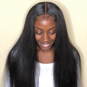 Fake Scalp Wig Silky Straight 13x4 Lace