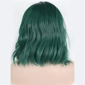 13X6 Lace Bob Wig Wavy Polaris Green