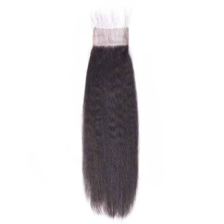 Raw Virgin Hair 4x4 Lace Closure Kinky Straight