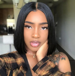 T Part Lace Wig Bob Wig Silky Straight