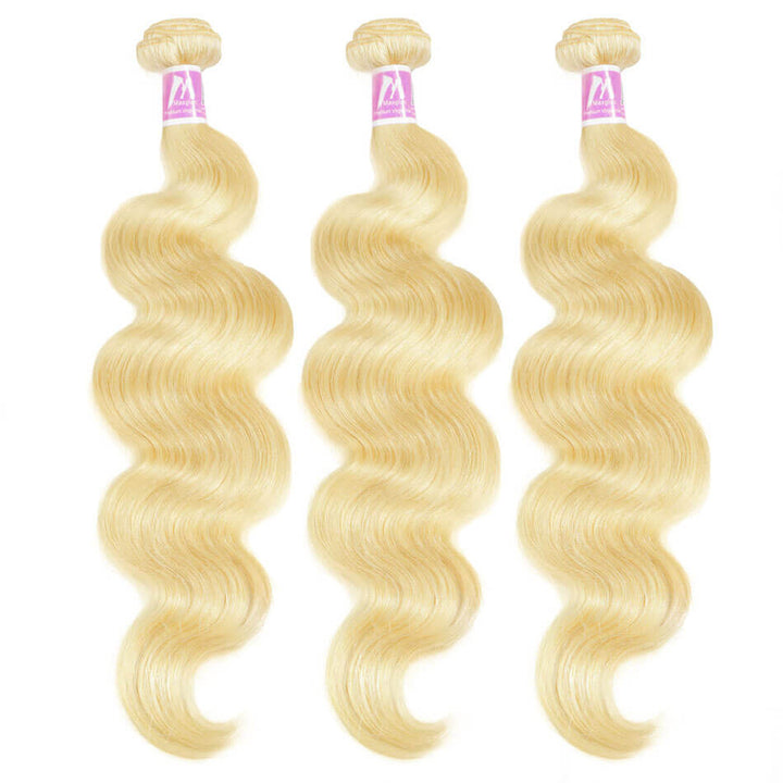 Blonde Hair Weave 3 Bundle Deals Body Wave #613