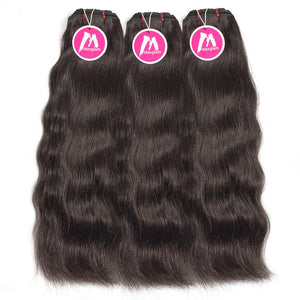 Raw Indian Hair Weave 3 Bundle Deals Natural Straight