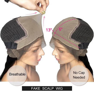 Fake Scalp Wig Body Wave 13x6 Lace