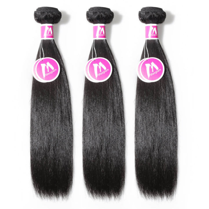 Raw Virgin Hair Weave 3 Bundle Deals Silky Straight