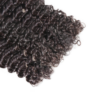Raw Virgin Hair Weave 3 Bundle Deals Deep Wave