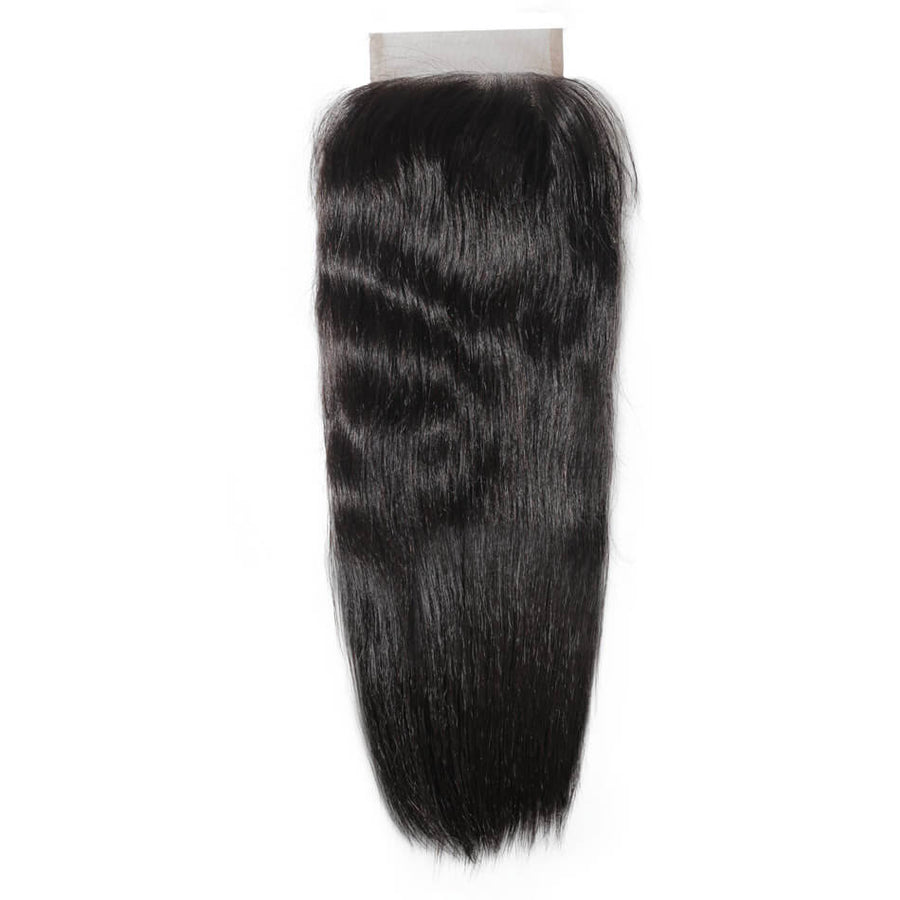 Remy Virgin Hair 4x4 Lace Closure Silky Straight
