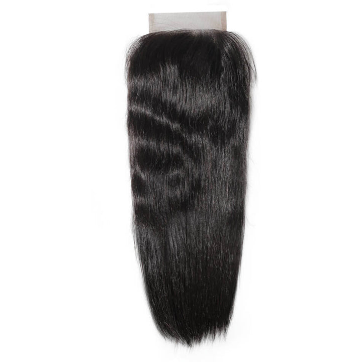 Raw Virgin Hair 4x4 Lace Closure Silky Straight