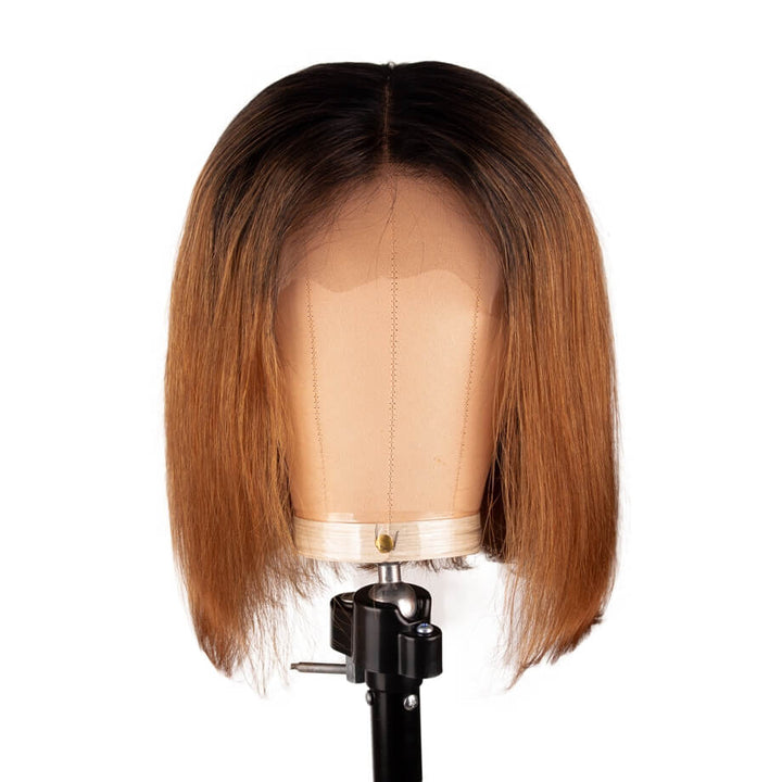 T1B/30 T Part Lace Bob Wig Silky Straight