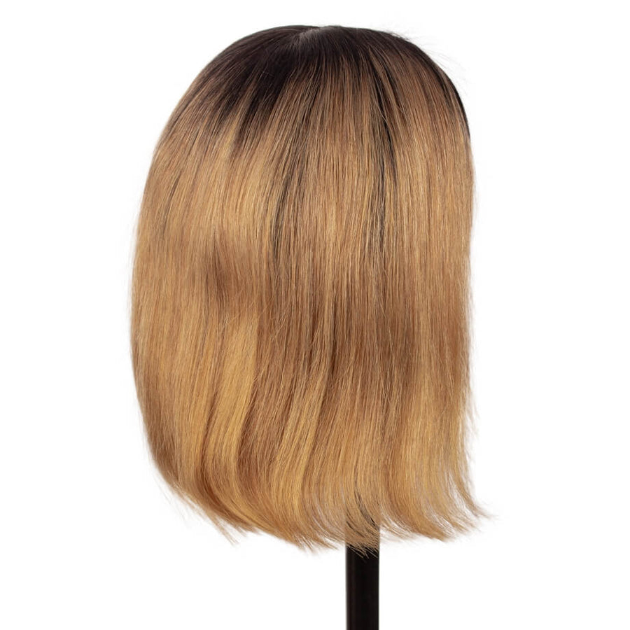 T1B/27 T Part Lace Bob Wig Silky Straight