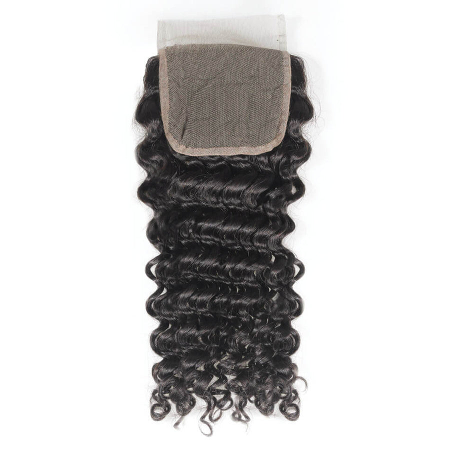Remy Virgin Hair 4x4 Lace Closure Deep Wave