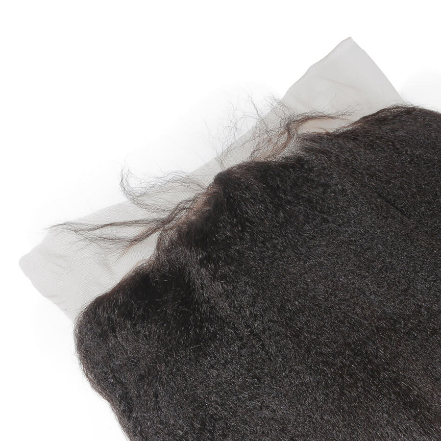 Raw Virgin Hair 13x4 Lace Frontal Kinky Straight