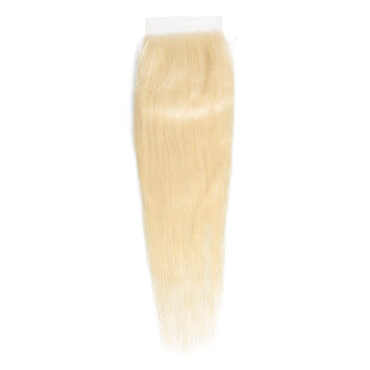 Blonde 4x4 Lace Closure Silky Straight #613