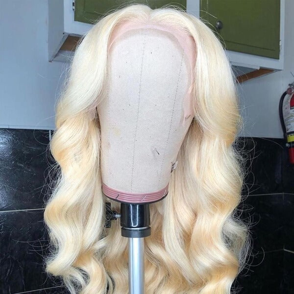 Long Blonde Human Hair 13x6 Lace Wig Body Wave