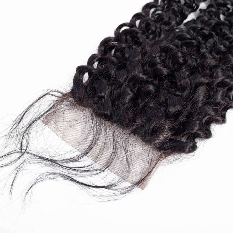 Remy Virgin Hair 4x4 Lace Closure Kinky Curly