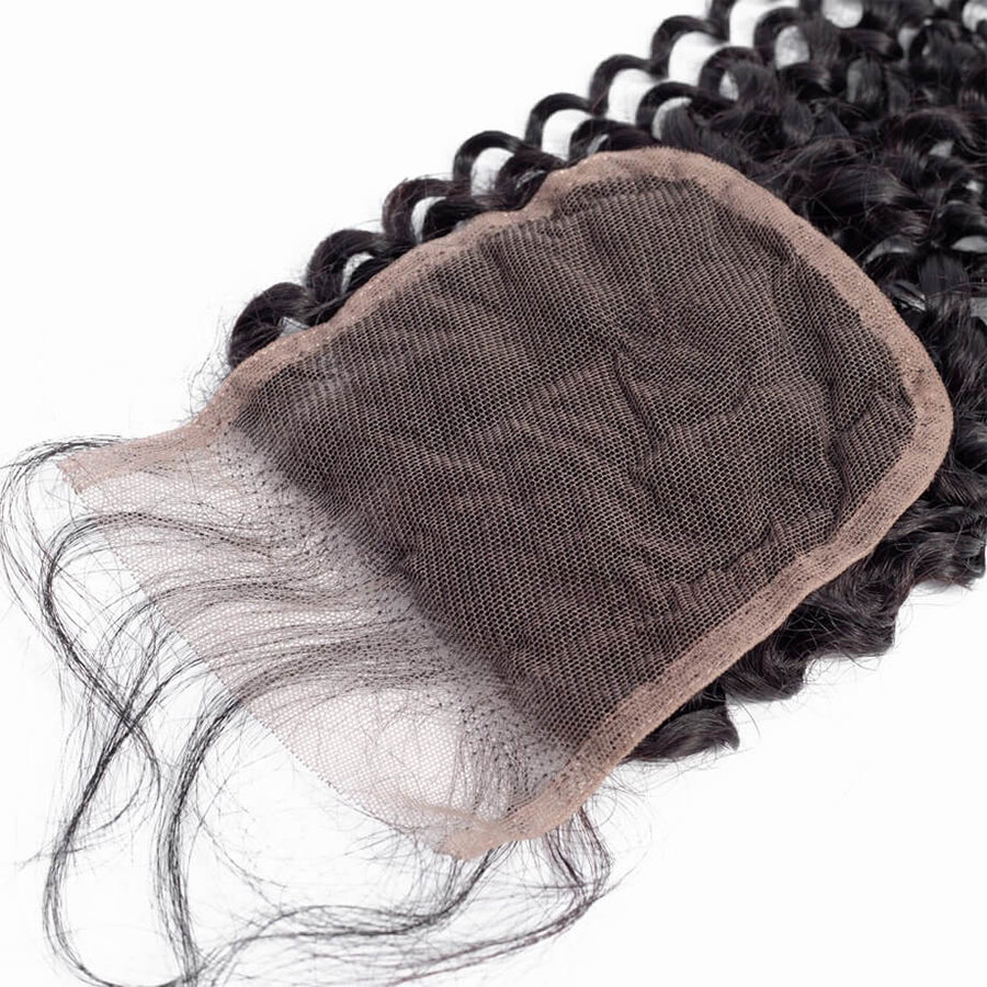 Raw Virgin Hair 4x4 Lace Closure Kinky Curly