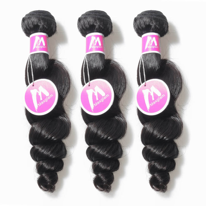 Remy Virgin Hair Weave 3 Bundle Deals Loose Wave