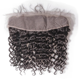 Remy Virgin Hair 13x4 Lace Frontal Deep Wave