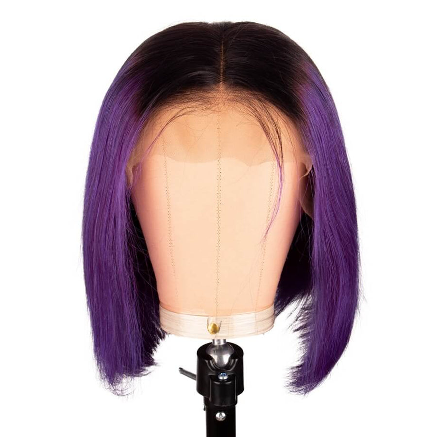 T1B/Purple T Part Lace Bob Wig Silky Straight