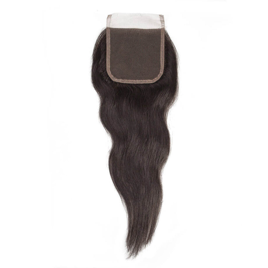Raw Indian Hair 4x4 Lace Closure Natural Straight