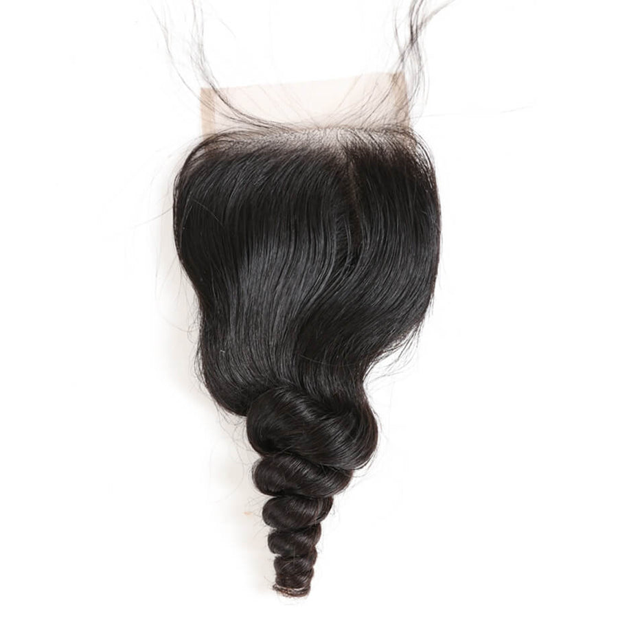Raw Virgin Hair 4x4 Lace Closure Loose Wave