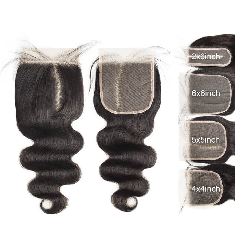 Raw Virgin Hair 5x5 Transparent Lace Closure Body Wave