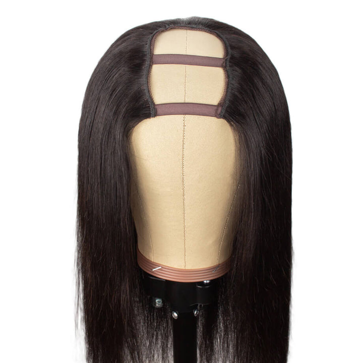 U Part Wig Silky Straight