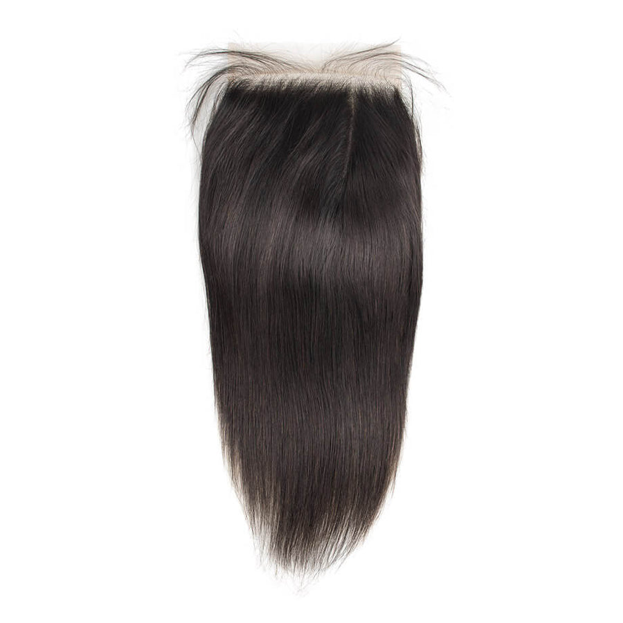 Raw Virgin Hair 5x5 Transparent Lace Closure Silky Straight