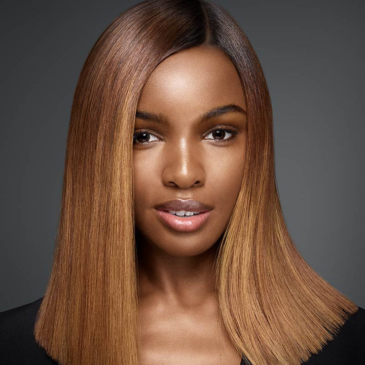13x4 Lace Wig Silky Straight Caramel Toffee Color