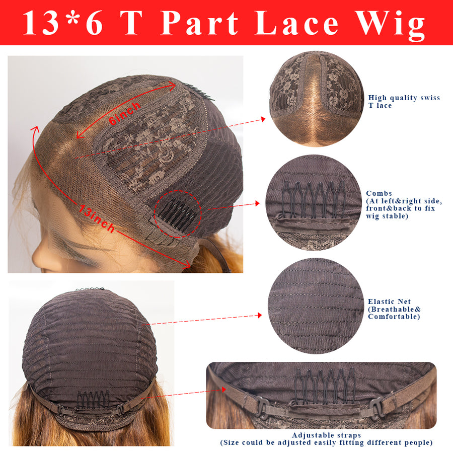 T Part Lace Wig Silky Straight Long Hairstyle