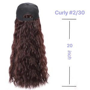 Synthetic Hair Wig With Hat