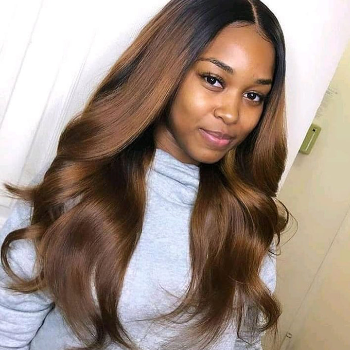 13x4 Lace Wig Wavy Ombre #1B/30