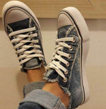 Load image into Gallery viewer, Denim sepia style canvas shoes