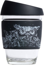 Load image into Gallery viewer, Glass Reusable Cup - Owl Design