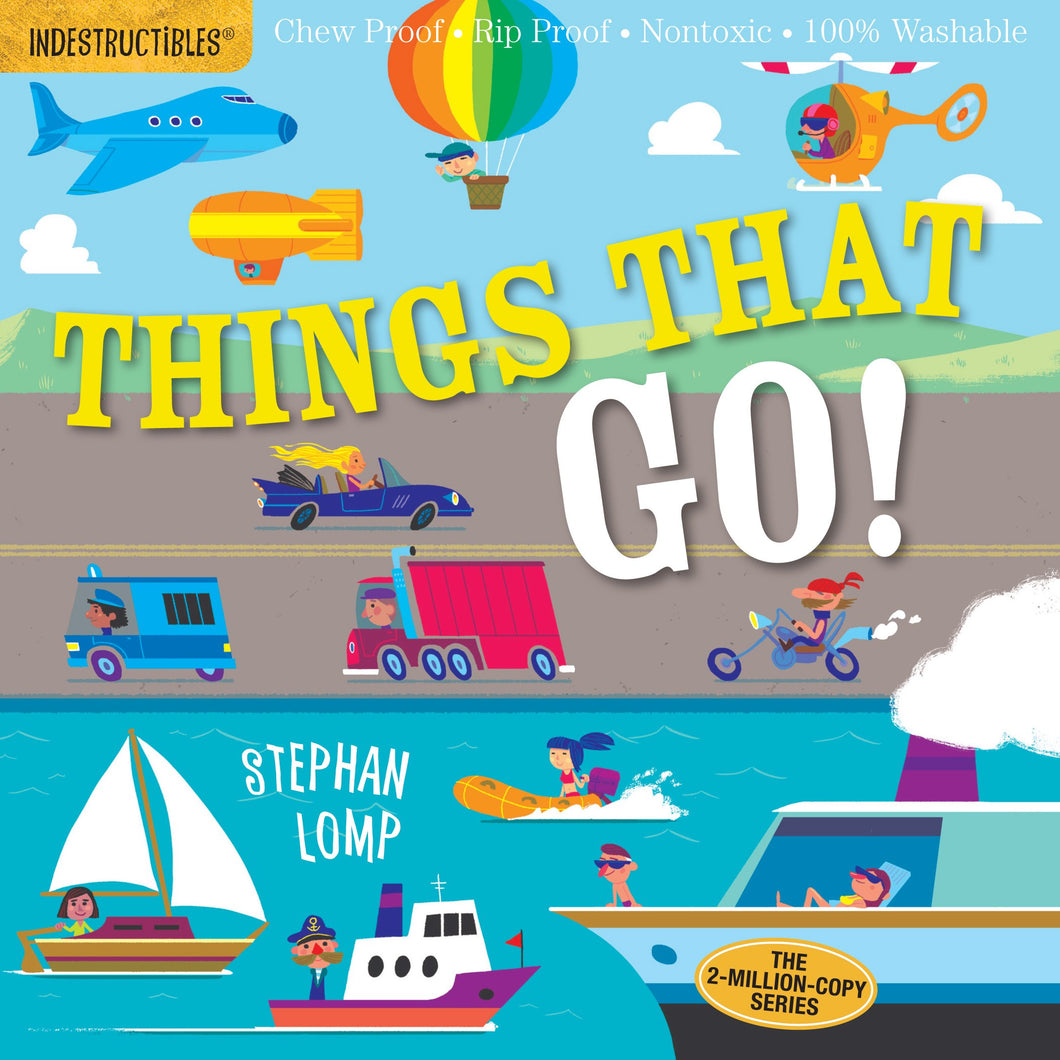 INDESTRUCTIBLES Baby Book - THINGS THAT GO!