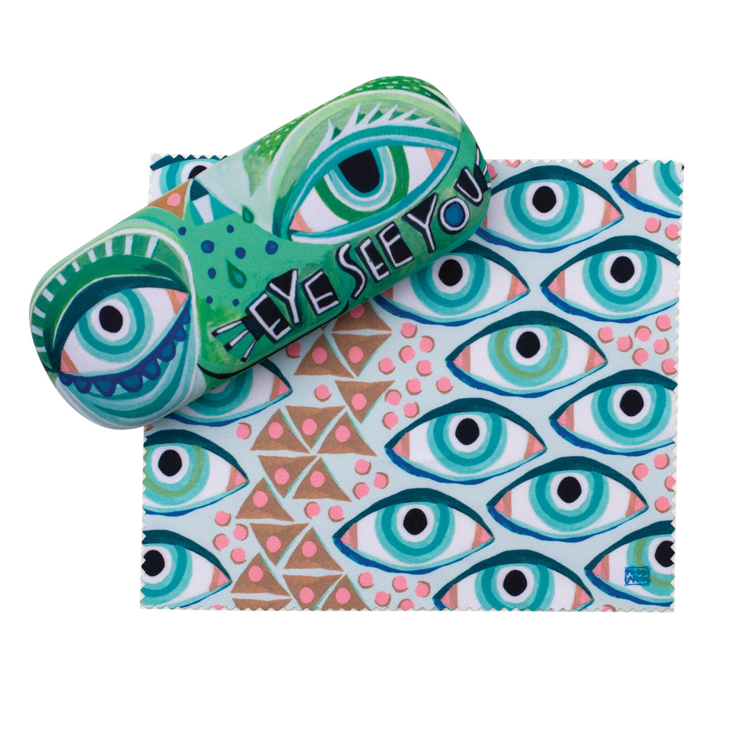 Eyeglass Case & Cleaning Cloth - EYE SEE YOU