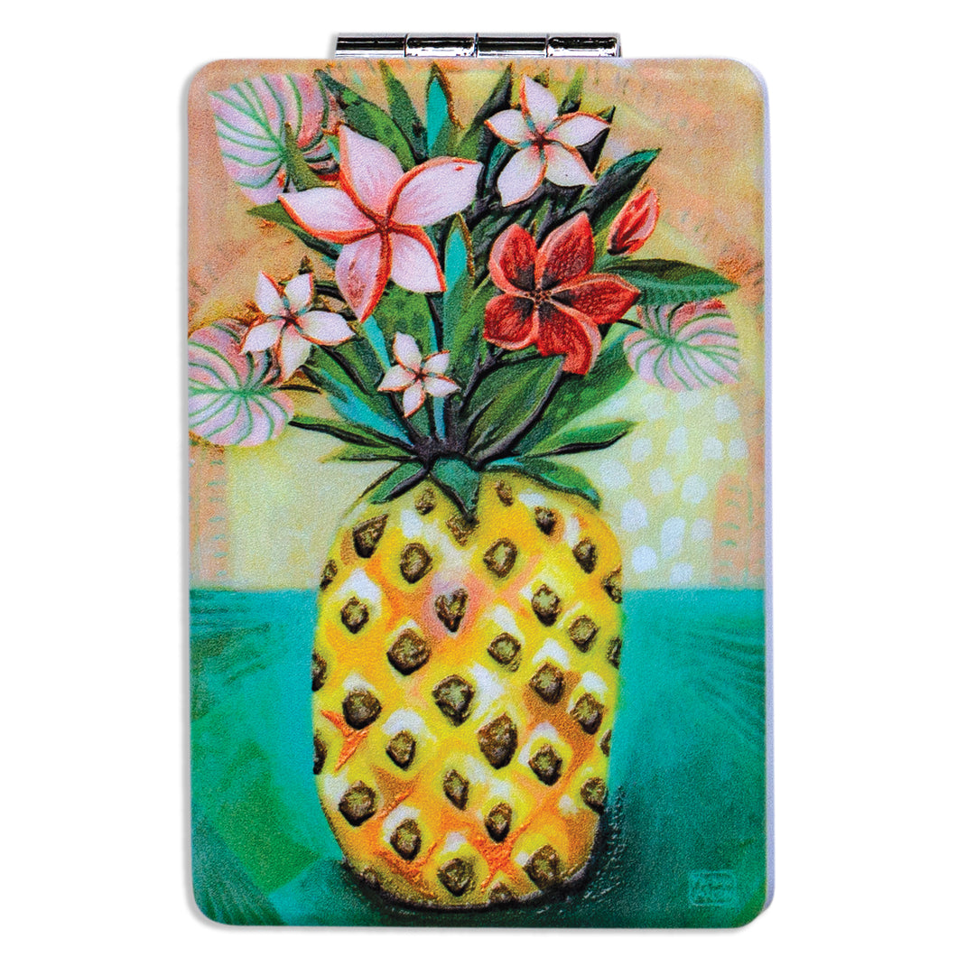 Pocket Compact Mirror - PINEAPPLE