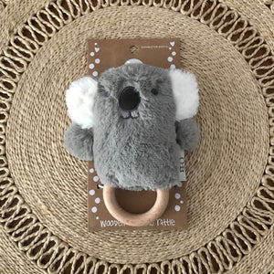 Wooden Teething Rattle - Kelly Koala