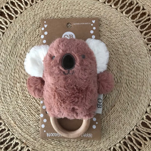 Wooden Teething Rattle - Kate Koala