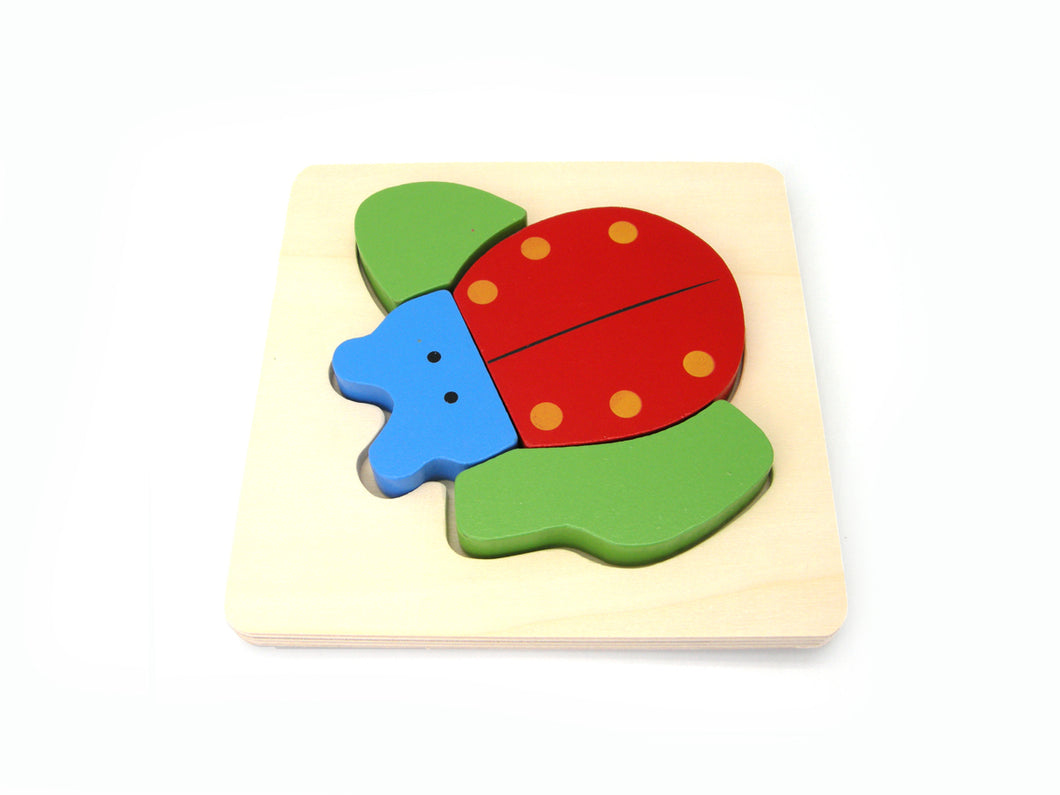 Wooden Chunky Puzzle - LADYBIRD